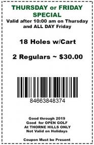 Thorne HillsThursdayFriday Special Golfers